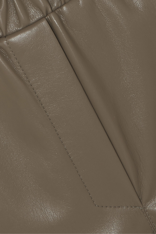 Nanushka Lora ruffled vegan leather shorts