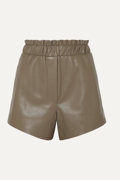 Nanushka Shorts Lora ruffled vegan leather shorts