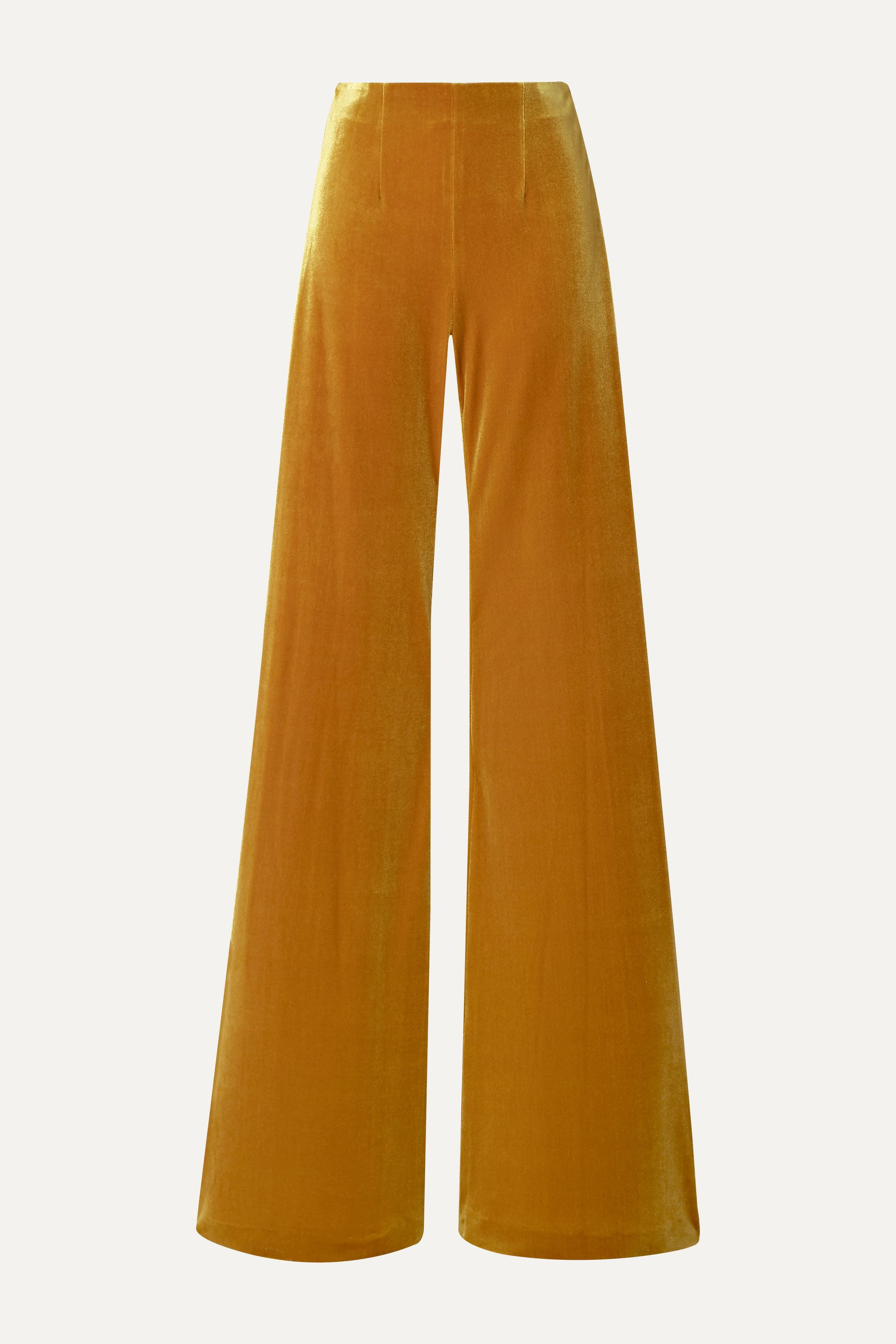 Galvan Winter Sun velvet wide-leg pants