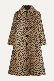 Marc Jacobs Animal-print alpaca and cotton-blend coat