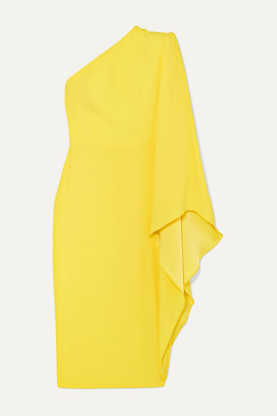 Alex Perry FINLEY ONE-SLEEVE CREPE DRESS