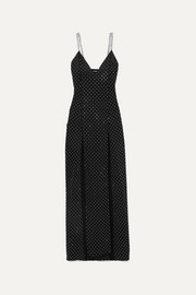 Balmain Chain and crystal-embellished stretch-jersey gown