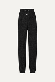 Balmain Crystal-embellished knitted straight-leg pants