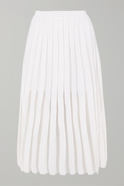 Balmain Pleated knitted midi skirt