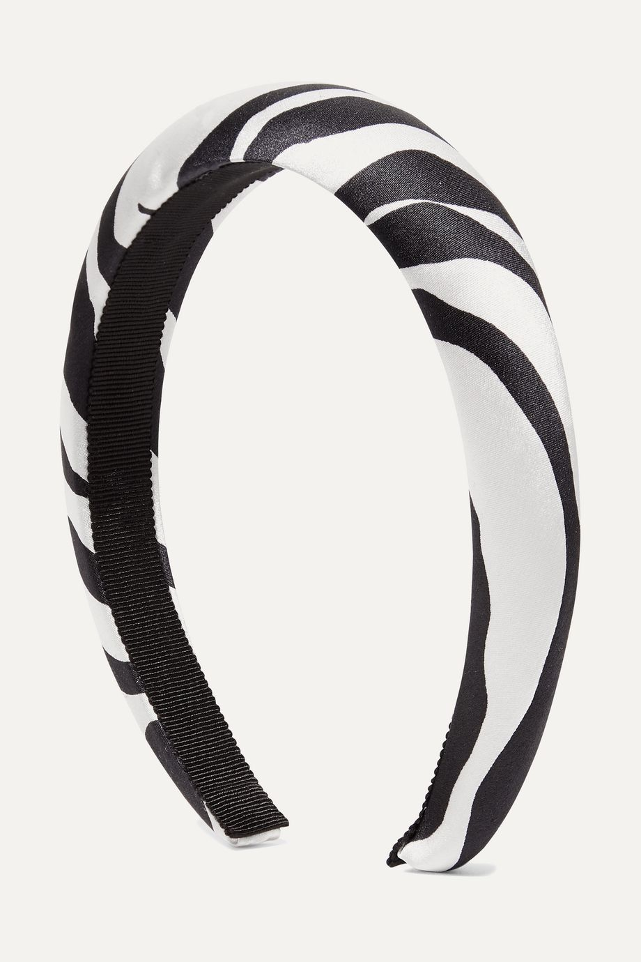 Jennifer Behr Tori zebra-print silk-satin headband