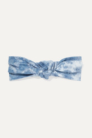 Jennifer Behr Marin knotted tie-dyed silk-satin headband