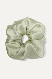 Hammered silk-satin hair tie