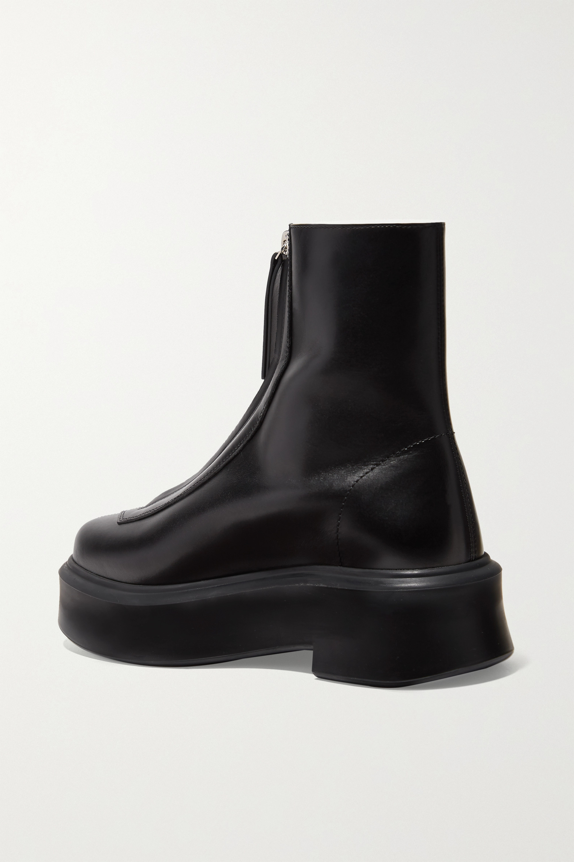 The Row Leather ankle boots