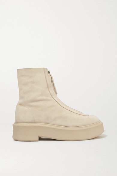 textured-nubuck-platform-ankle-boots by the-row