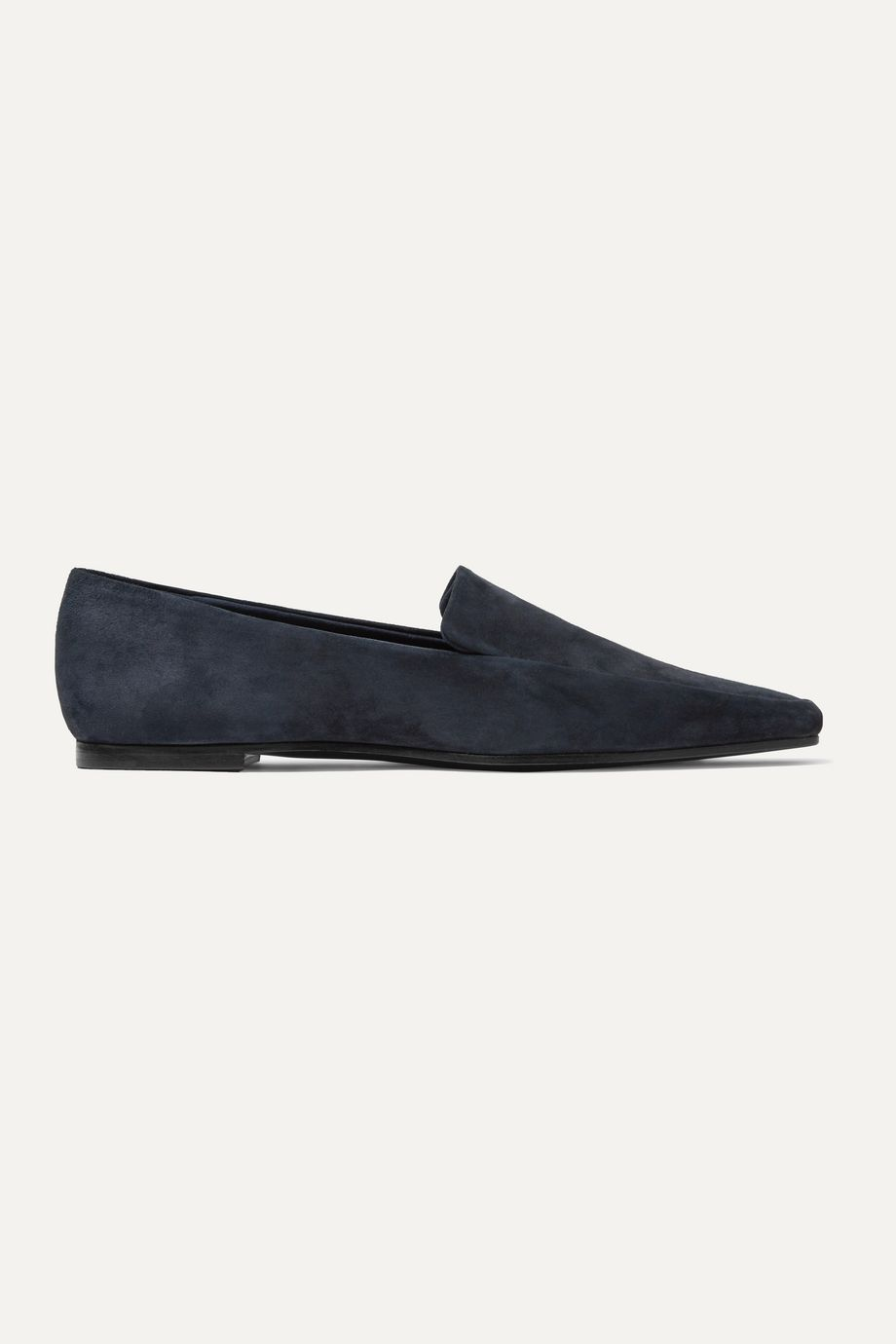 The Row Minimal suede loafers