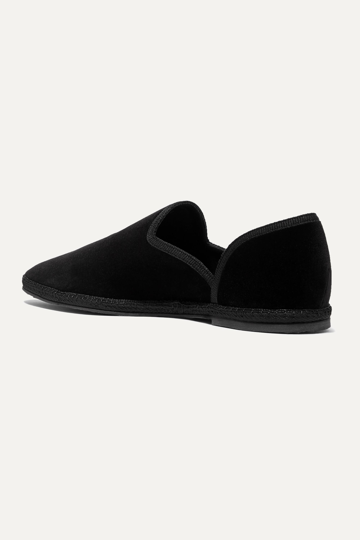 The Row Friulane velvet slippers