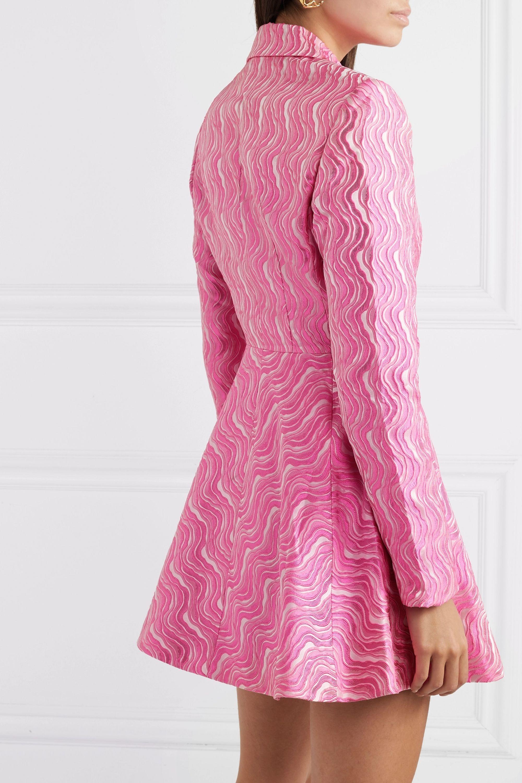ROTATE Birger Christensen Double-breasted metallic jacquard mini dress