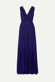 Jason Wu Collection Plissé-silk chiffon gown