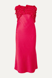 Jason Wu Collection Strapless ruffled satin-crepe midi dress