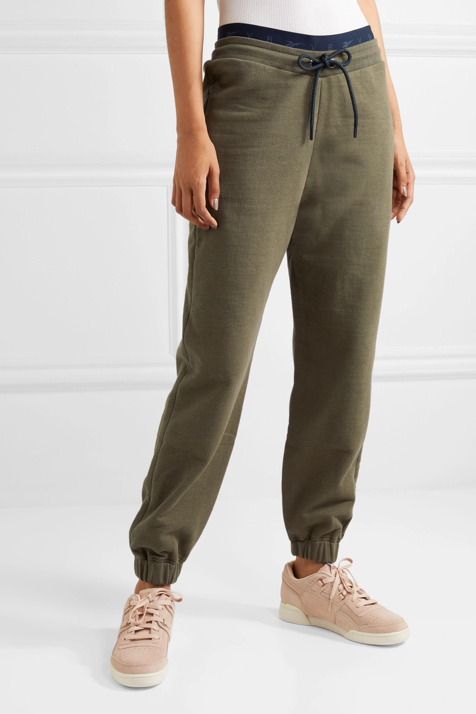 Reebok X Victoria Beckham Pantalon de survêtement en jersey de coton à broderie
