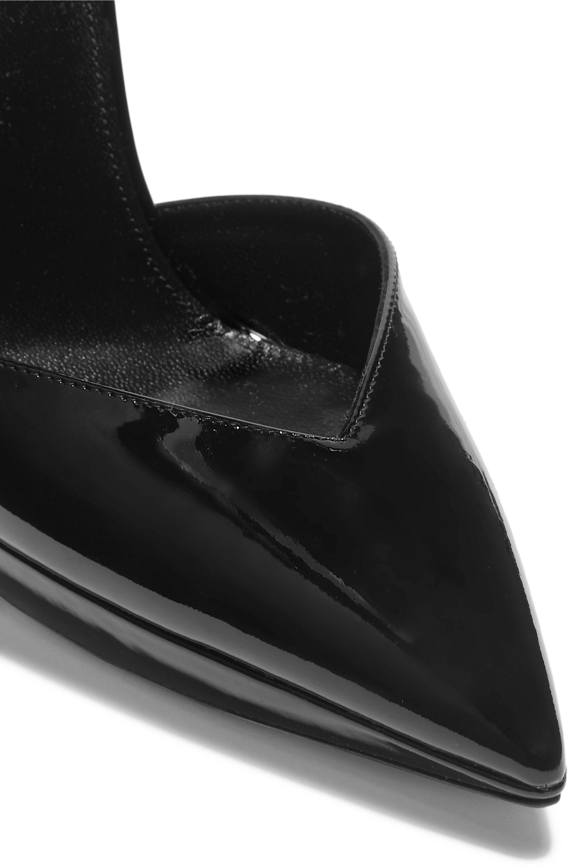 SAINT LAURENT Zizi patent-leather platform pumps