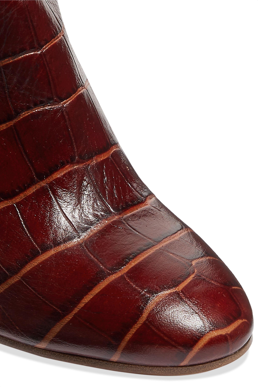 Gabriela Hearst Linda croc-effect leather knee boots