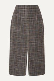 Moka checked bamboo skirt