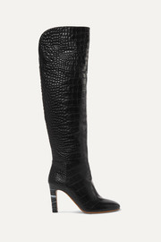 Gabriela Hearst Linda croc-effect leather over-the-knee boots