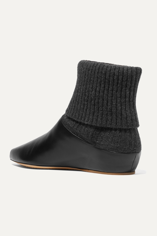Gabriela Hearst Rocia Sock Boots aus Leder und Kaschmir