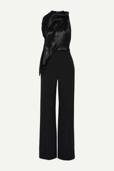 Rosita silk-blend lamé and crepe jumpsuit