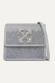 Jitney 0.7 crystal-embellished suede shoulder bag