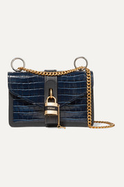 Chloé Aby Chain croc-effect leather shoulder bag