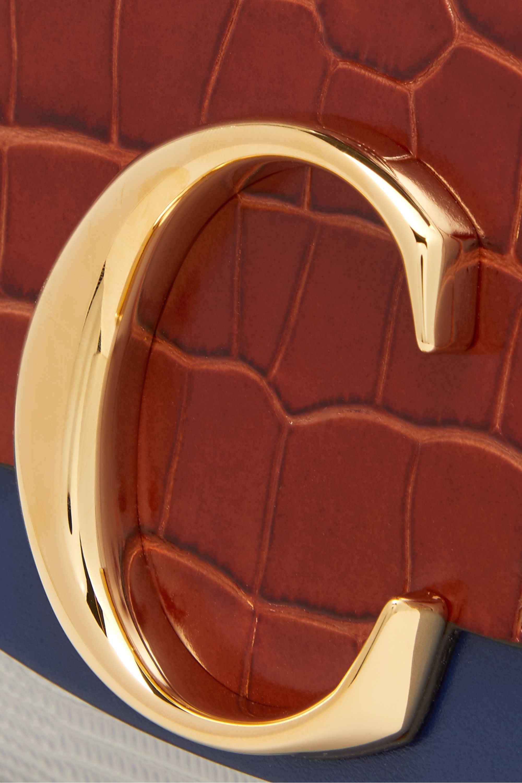Chloé Chloé C croc-effect and lizard-effect leather shoulder bag