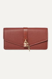 Chloé Aby embellished textured-leather continental wallet