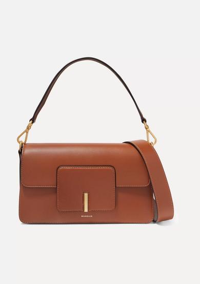 Wandler 'georgia' Leather Shoulder Bag In Tan