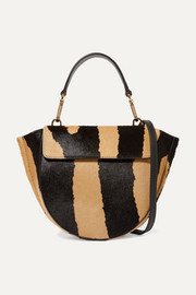 Hortensia mini zebra-print calf hair shoulder bag