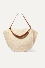 Mia large shearling and leather tote