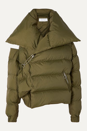 Marques' Almeida Oversized asymmetric quilted shell down jacket