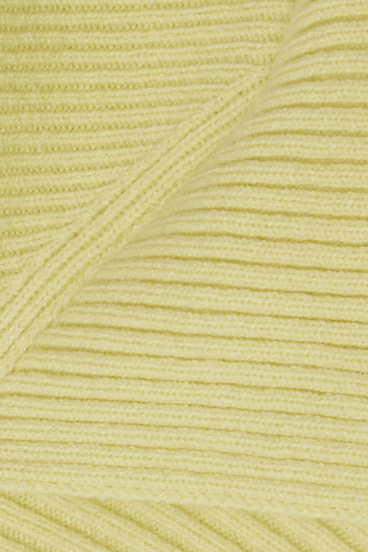 Cédric Charlier Ribbed wool-blend cardigan