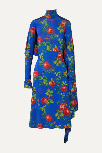 eb1871ce63 Vetements | Robe dos ouvert en crêpe stretch à imprimé fleuri et à drapés |  NET-A-PORTER.COM