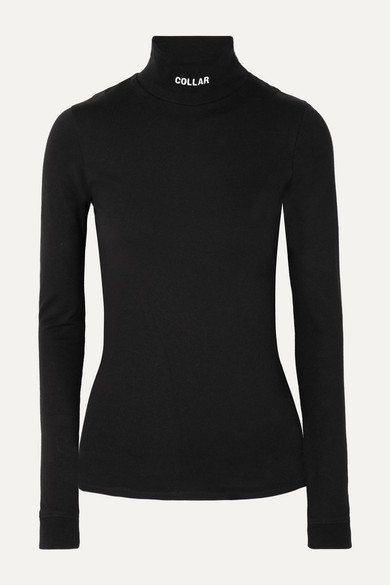 printed-cotton-jersey-turtleneck-top by vetements