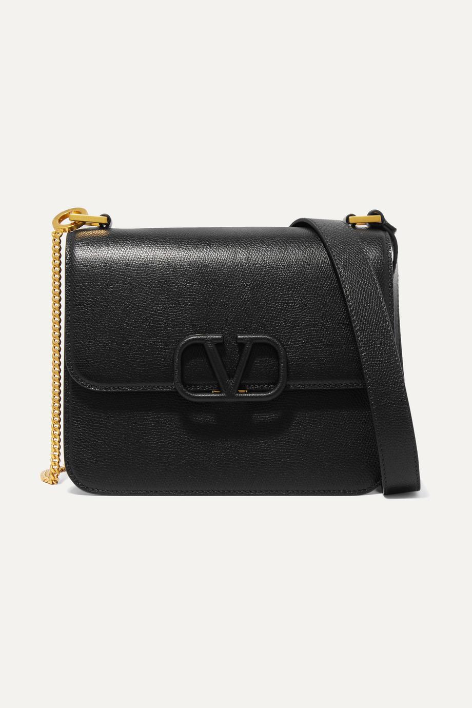 Valentino Valentino Garavani VSLING large textured-leather shoulder bag