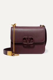 Valentino Garavani VSLING large textured-leather shoulder bag