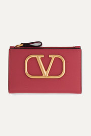 Valentino Valentino Garavani Go Logo textured-leather wallet