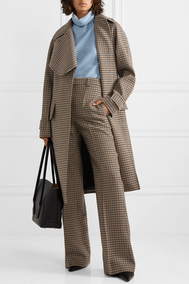 Victoria Beckham Coats Oversized checked wool coat