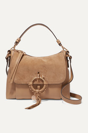 See By Chloé Joan small suede and textured-leather shoulder bag