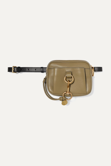 Tony Two Tone Textured Leather Belt Bag by See By Chloé