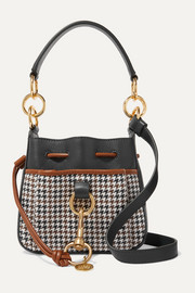 Tony printed textured-leather shoulder bag