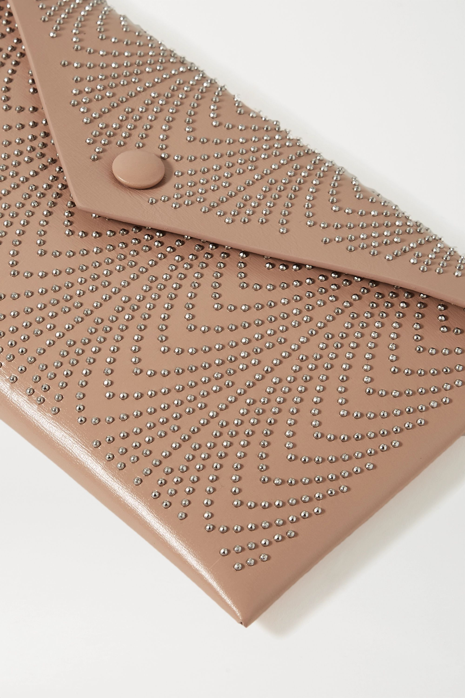 Beige Small Studded Clutch | Alaïa
