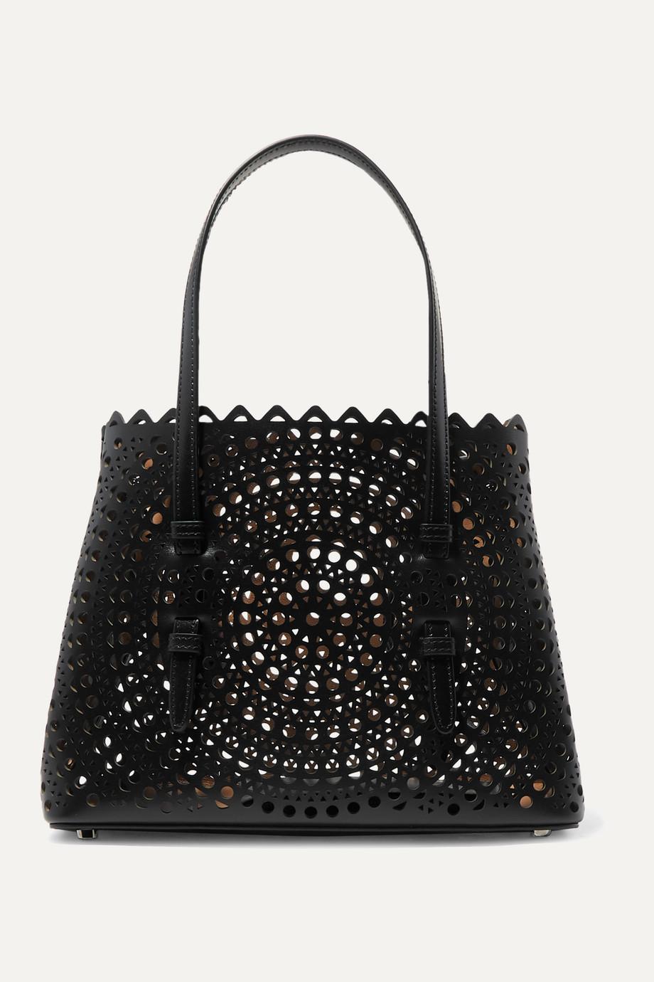 Alaïa Mina small laser-cut leather tote
