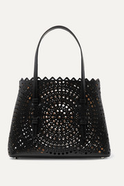 Alaïa Mina small laser-cut leather tote