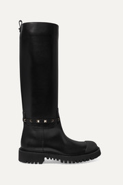 Valentino Garavani Rockstud leather knee boots