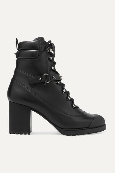 valentino-garavani-rockstud-95-leather-ankle-boots by valentino