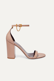 Valentino Valentino Garavani Tiny Chain 100 leather sandals