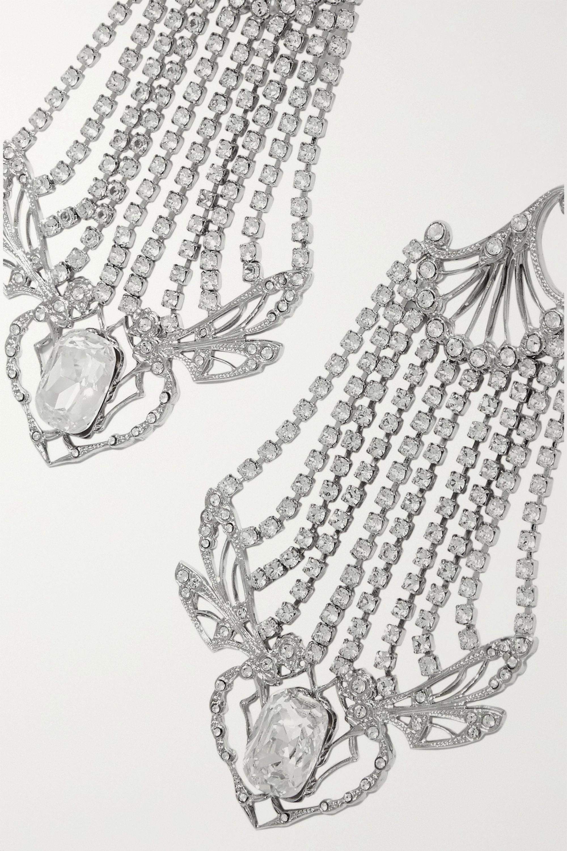 Paco Rabanne Boucles d'oreilles en métal argenté et cristaux